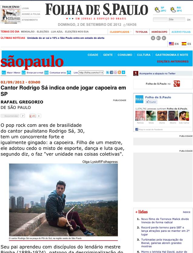 Matéria Folha de S. Paulo