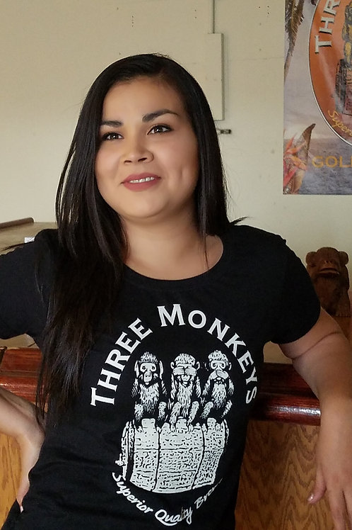 Three Monkeys Classic Monkey Nation! T-Shirt Women
