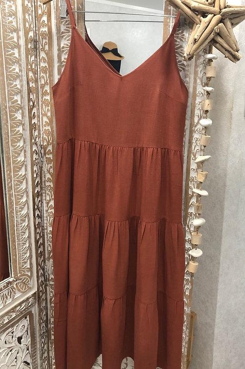 ROSA LINEN 3/4 MAXI DRESS