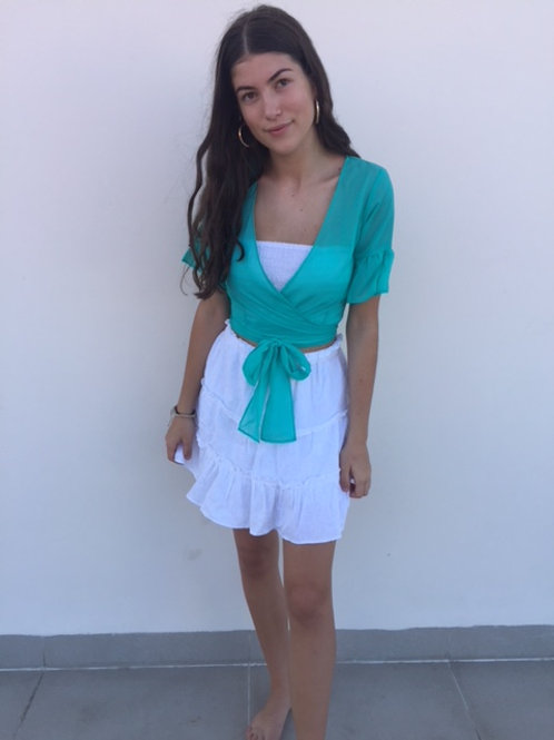 LILLY FRILL WRAP TOP