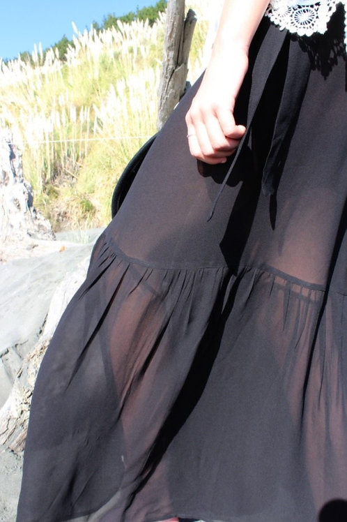 FANCIFUL GEORGETTE WRAP SKIRT