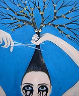 Généalogie, larmes, couper cheveux, thérapie, Garance Monziès, peinture, arbre, maquillage, histoire, passé