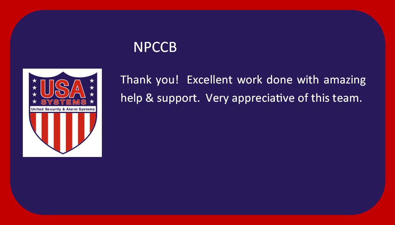 NPCCB - Happy Customers!