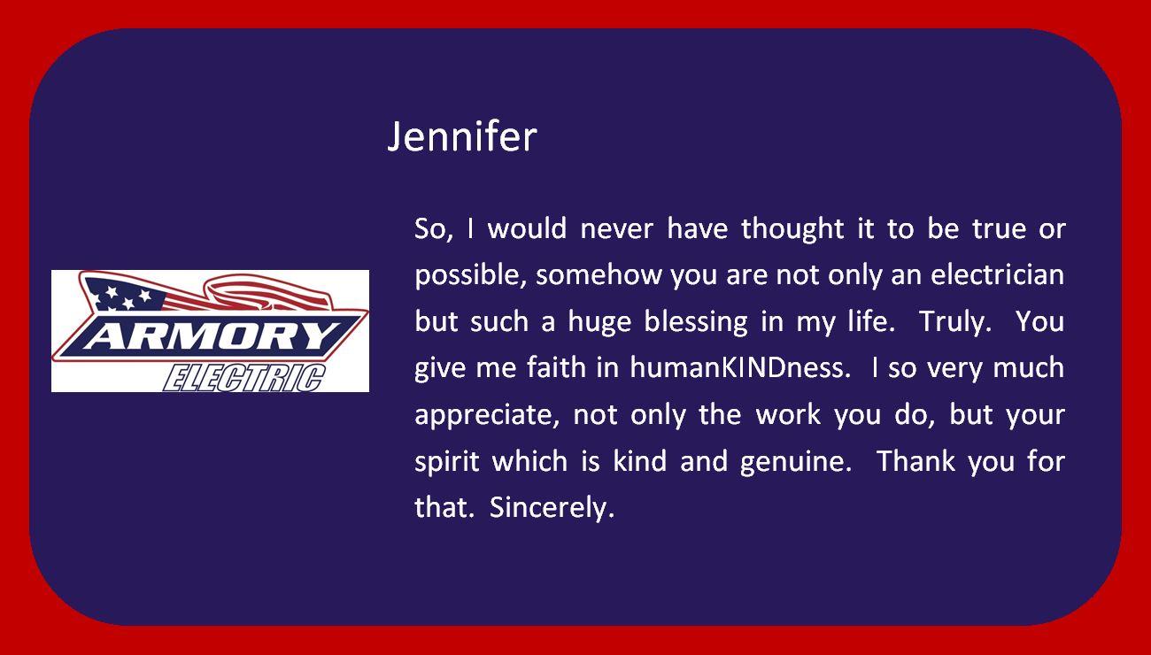 Jennifer - Happy Customer!