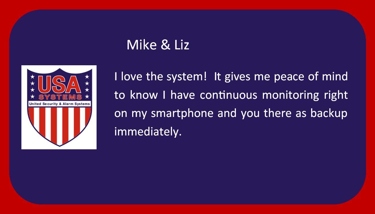 Mike & Liz - Happy Customers!