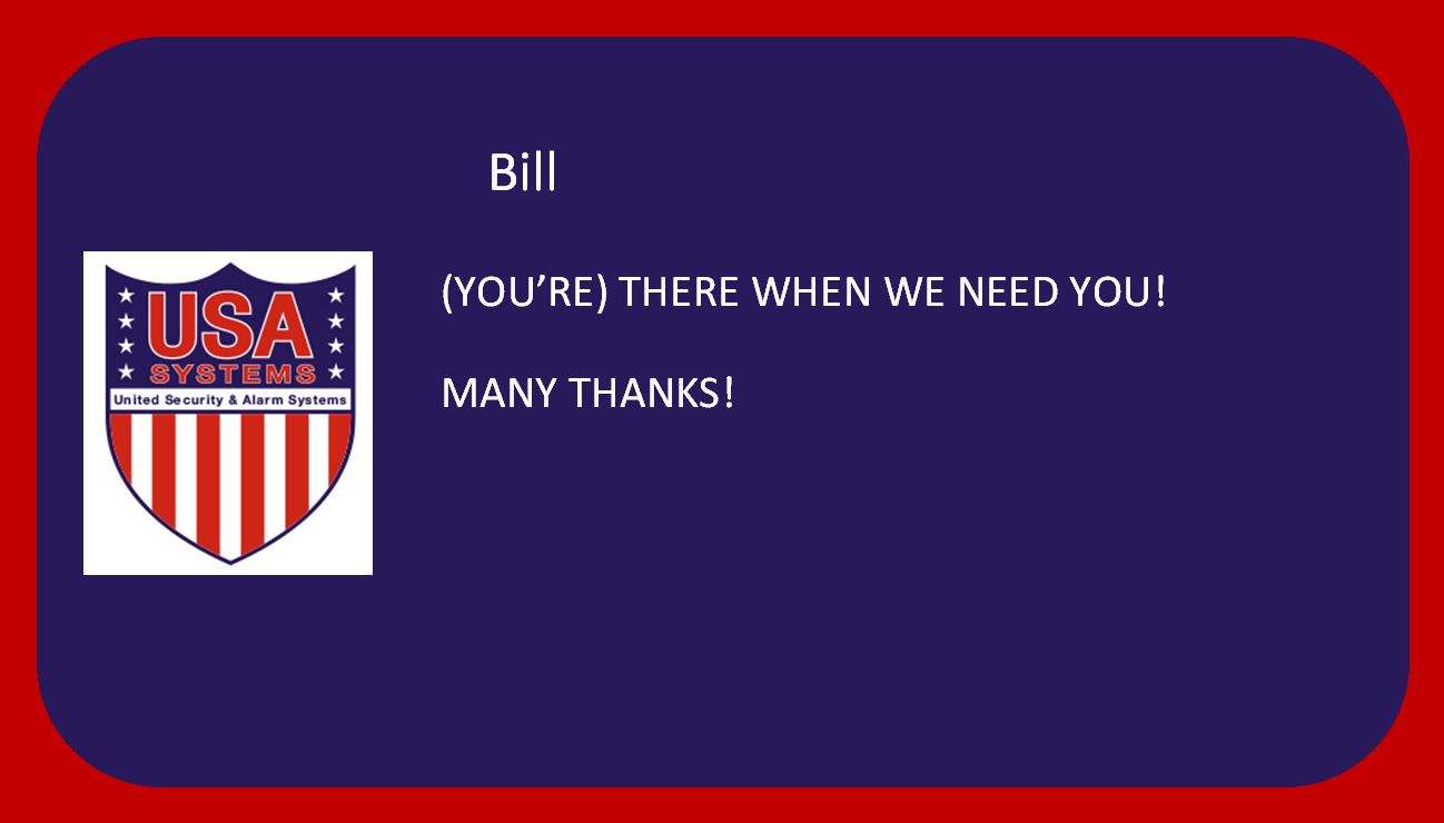 Bill - Happy Customer!