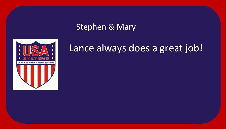 Stephen & Mary