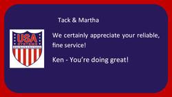 Tack & Martha