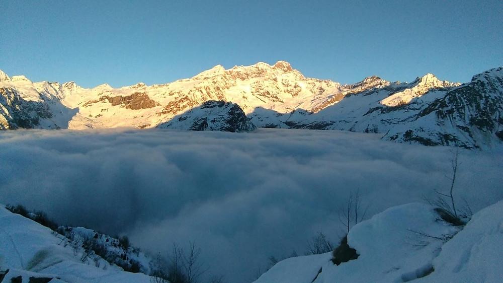 Monte Rosa view da Alpe Sattal