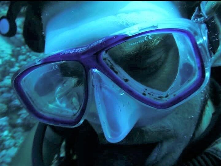 Diego durante una immersione