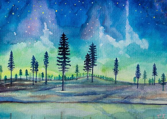 Northern lights (Giclee print)