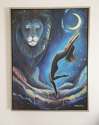 """The power within"" - unique hand painted canvas print (framed)"