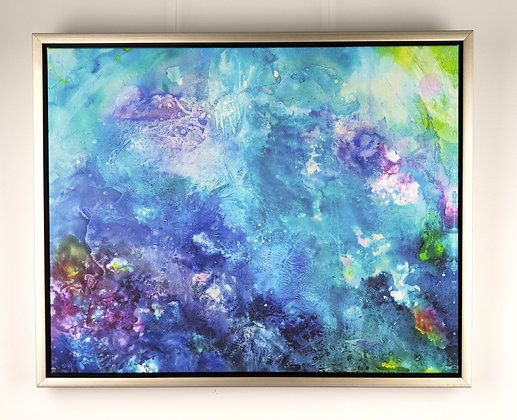 """Reef energy"" Framed Gallery wrap canvas 20""x16"""