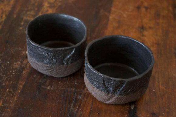 Big Sur Cups in Midnight Black - Set of 2