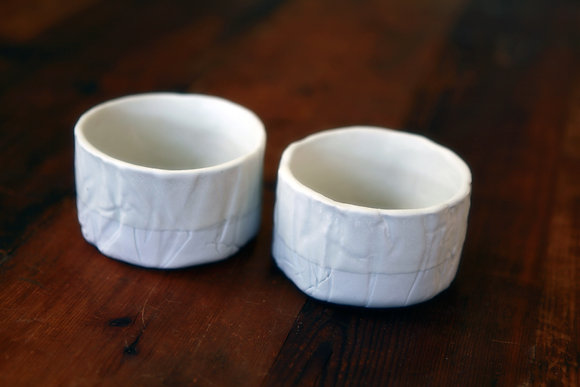 Porcelain Cups in Snow - Set of 2