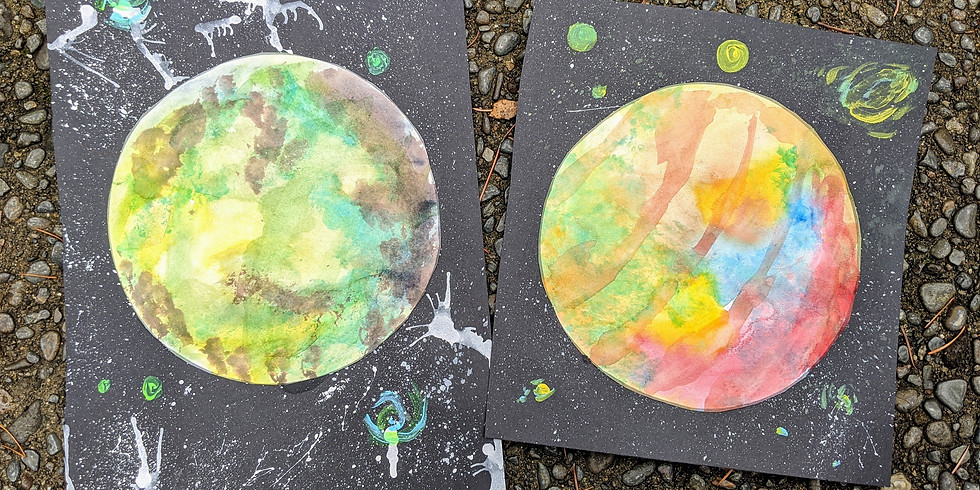 Second Saturday Family Art: Out of This World Planets