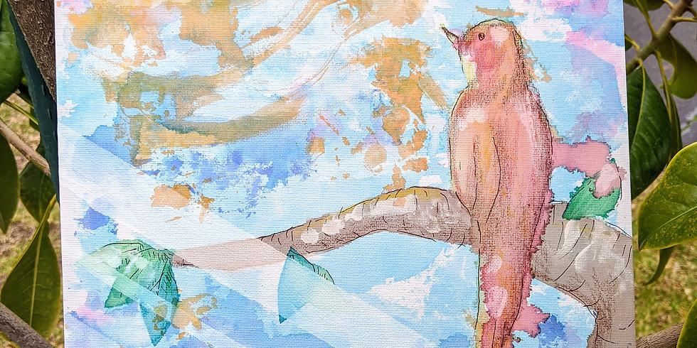 Third Thursday Adult Art: Bleeding Tissue Paper Art