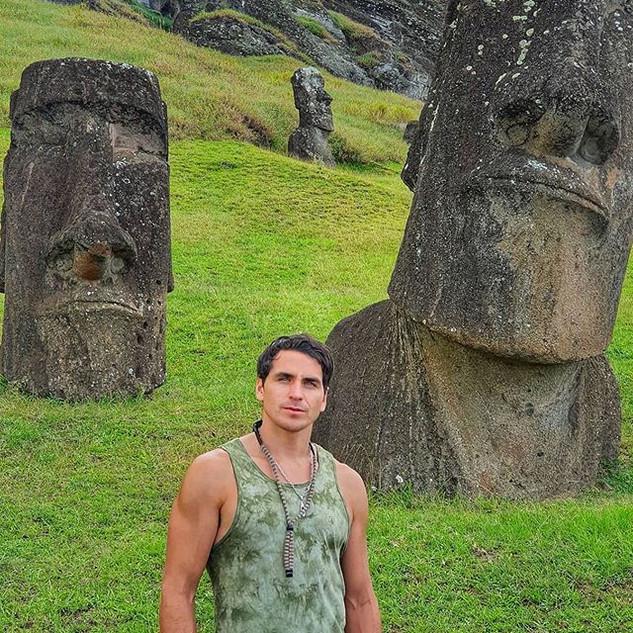 @pangalandrade recorriendo #rapanui junt