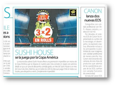 Sushi House se la juega por la Copa América