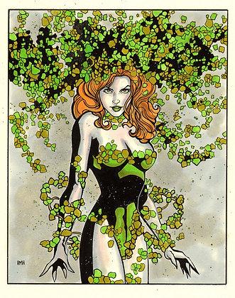 """Poison Ivy - 9"""" x 12"""""""