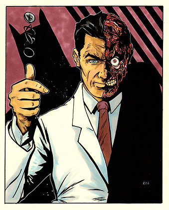 """Two-Face - 9"""" x 12"""""""