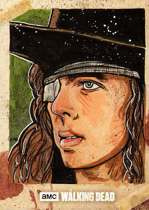 The Walking Dead: Season 8 - Original Sketch Card - Carl Grimes