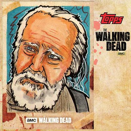 The Walking Dead: Hunters & Hunted-  Original Sketch Card - Herschel