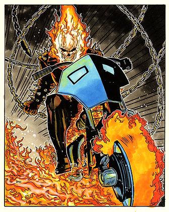 "Ghost Rider - 9"" x 12"""