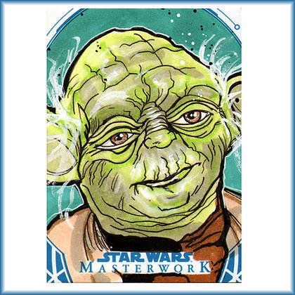 Topps - Star Wars Masterwork - Original Sketch Card - Yoda