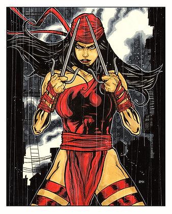 """Elektra - 9"""" x 12"""""""