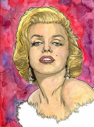 Marilyn Monroe - 11 x 15 - Painting