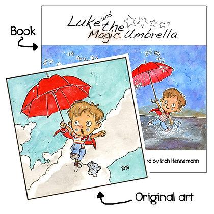 Luke and the Magic Umbrella - With Original Sketch