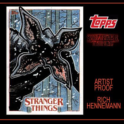 Topps - Stranger Things - Original Sketch Card -Demogorgon