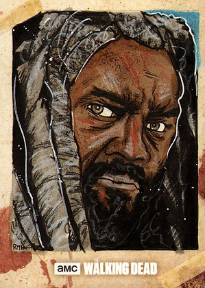 The Walking Dead: Season 8- Original Sketch Card - Ezekiel
