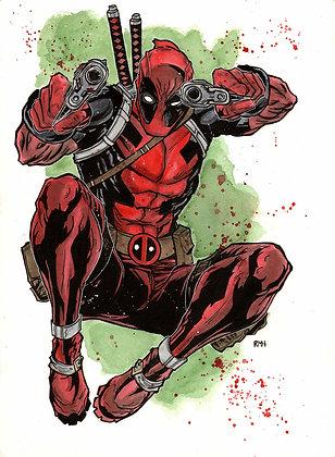 """Deadpool - 11"""" x 15"""""""