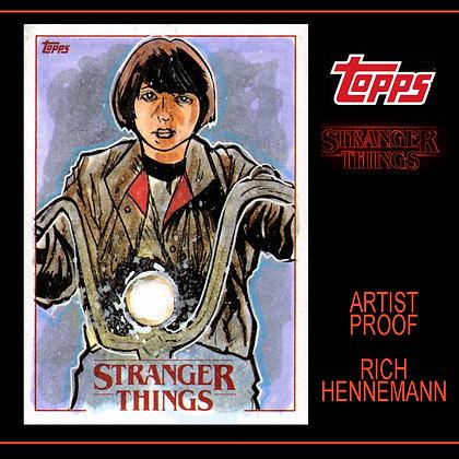 Topps - Stranger Things Original Sketch Card - MIke