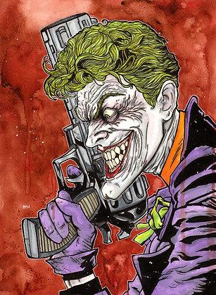 Joker - 11 x 15 Watercolor painting