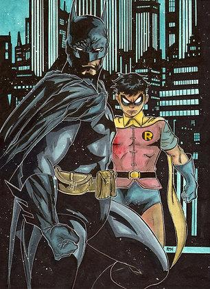 Batman & Robin - 11 x 15 - Painting