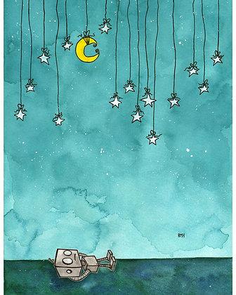 """Under Stars"" - 11 x 15 - Painting"