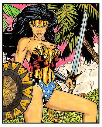 "Wonder Woman - 9"" x 12"""