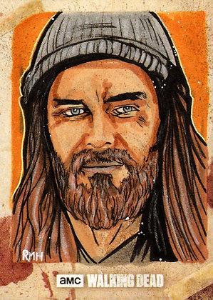 The Walking Dead: Season 8- Original Sketch Card - Jesus
