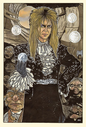 "Labyrinth - Jareth The Goblin King - 11"" x 17"""