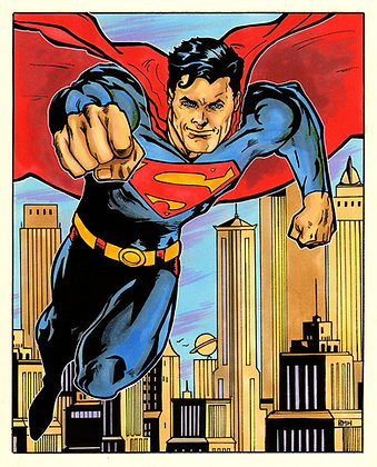 "Superman - 9"" x 12"""