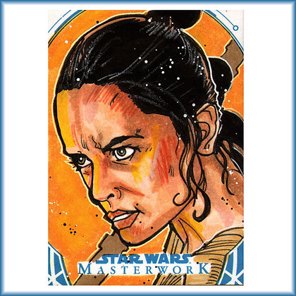 Topps - Star Wars Masterwork - Original Sketch Card - Rey