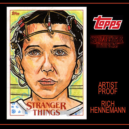 Topps - Stranger Things - Original Sketch Card - Eleven