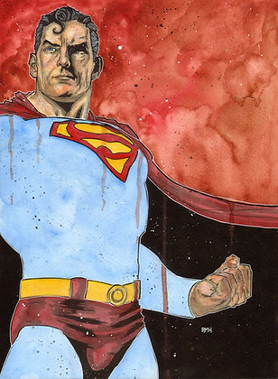 Superman - 11 x 15 Painting