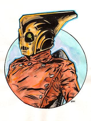 """Rocketeer - Head/Bust - 9"""" x 12"""""""