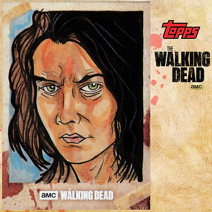 The Walking Dead: Hunters & Hunted-  Original Sketch Card - Maggie