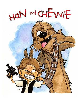 Calvin & Hobbes - Han & Chewie
