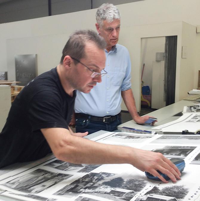 On press with Andrea Albertini and technician